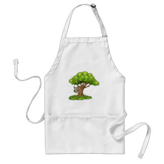 Cartoon Fairytale Big Bad Wolf and Tree Standard Apron