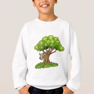Cartoon Fairytale Big Bad Wolf and Tree Sweatshirt