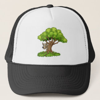 Cartoon Fairytale Big Bad Wolf and Tree Trucker Hat