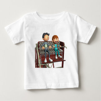 Cartoon Father and Son on a Ferris Wheel Baby T-Shirt