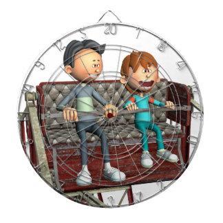 Cartoon Father and Son on a Ferris Wheel Dartboard