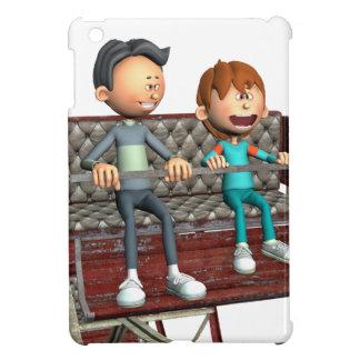 Cartoon Father and Son on a Ferris Wheel iPad Mini Cover