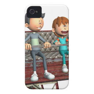 Cartoon Father and Son on a Ferris Wheel iPhone 4 Covers