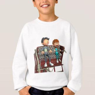 Cartoon Father and Son on a Ferris Wheel Sweatshirt