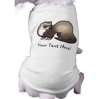 Cartoon Ferret Pet Tee Shirt