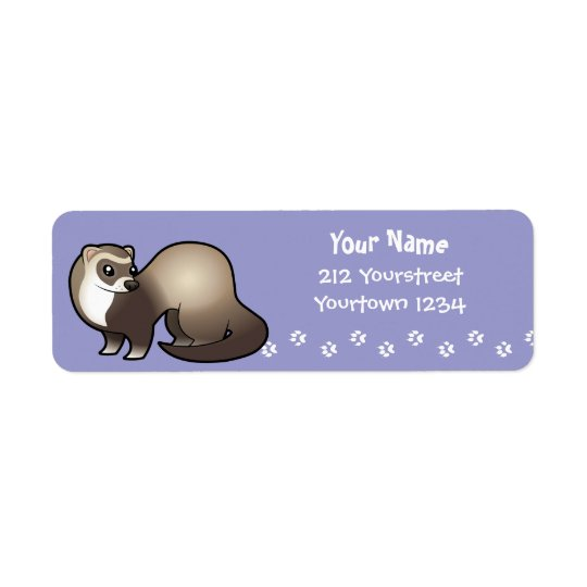 Cartoon Ferret Return Address Label