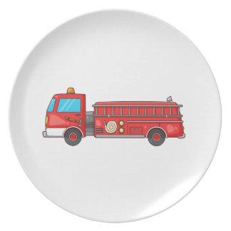 Cartoon Fire Truck/Engine Plate