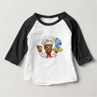 Cartoon Fish and Chips Chef Baby T-Shirt