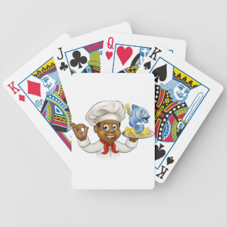 Cartoon Fish and Chips Chef Poker Deck
