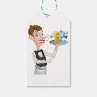 Cartoon Fish and Chips Waiter Gift Tags