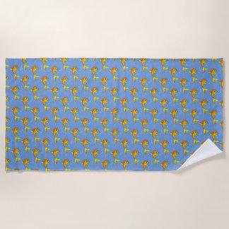 cartoon fish beach towel