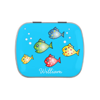 Cartoon Fish Customizable Candy Tin