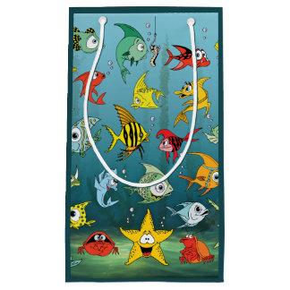 Cartoon Fish Underwater 2 Small Gift Bag