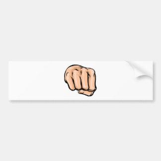 Cartoon Fist Bumper Sticker