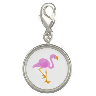Cartoon Flamingo Photo Charm