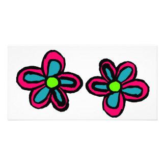 Cartoon Flower Customized Photo Card