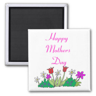 cartoon-flowers1, Happy Mothers Day Magnet