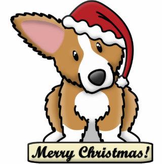 Cartoon Fluffy Corgi Christmas Ornament Photo Sculpture Ornament