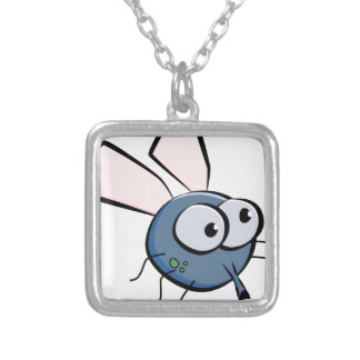 Cartoon Fly Silver Plated Necklace