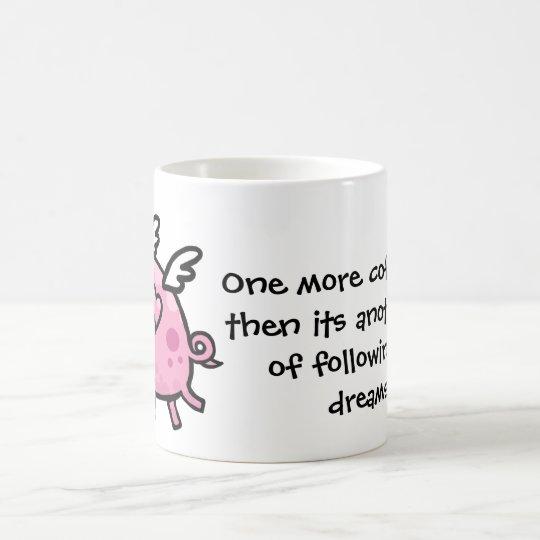 Cartoon Flying pig customisable text mug