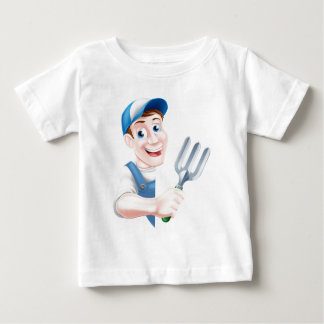 Cartoon Fork Gardener Baby T-Shirt