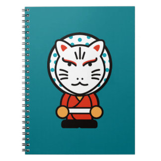 cartoon fox god illustration notebook