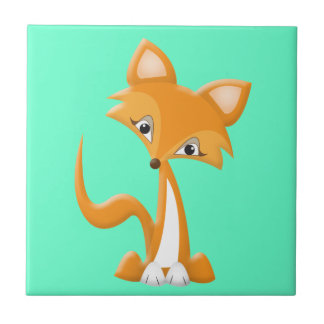 Cartoon Foxy Fox Tile
