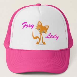 Cartoon Foxy Fox Trucker Hat