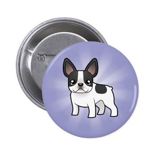 Cartoon French Bulldog Pinback Button