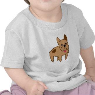 Cartoon French Bulldog Tee Shirts