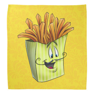 Cartoon french fries bandana