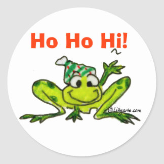 Cartoon Frog Christmas Sticker