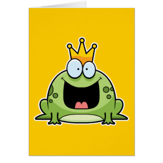 Cartoon Frog Prince Card