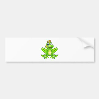 Cartoon Frog Prince Kiss Bumper Sticker