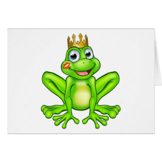Cartoon Frog Prince Kiss Card