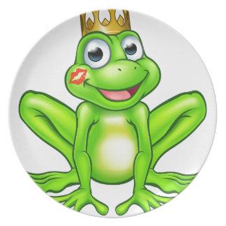 Cartoon Frog Prince Kiss Plate
