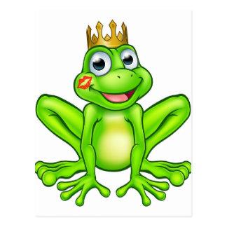 Cartoon Frog Prince Kiss Postcard