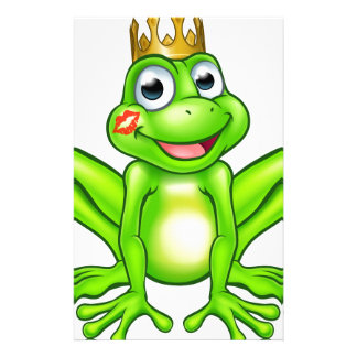 Cartoon Frog Prince Kiss Stationery Paper