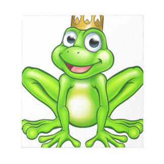 Cartoon Frog Prince Notepad