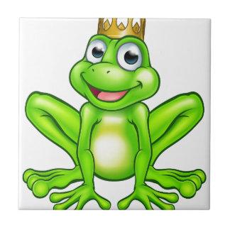 Cartoon Frog Prince Tile