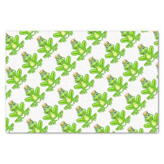 Cartoon Frog Prince Tissue Paper