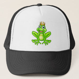 Cartoon Frog Prince Trucker Hat