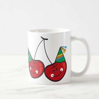 Cartoon Fun Comic Funny Cheeky Red Cherries Cherry Coffee Mug