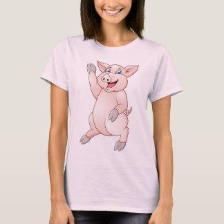 Cartoon funny pig t-shirt