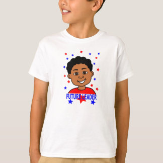 Cartoon Future Leader Boy Smiling T-Shirt