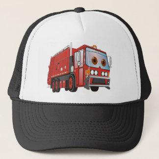 Cartoon Garbage Truck Red Trucker Hat