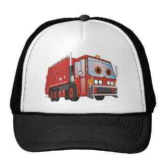Cartoon Garbage Truck Red Trucker Hat