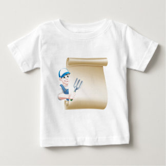 Cartoon Gardener Scroll Baby T-Shirt