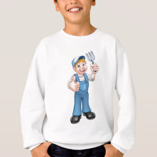Cartoon Gardener Sweatshirt