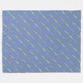 Cartoon Gator Farm Pattern Fleece Blanket